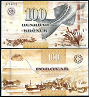 Faeroe Islands 100 Kronur 2011 P 30 UNC