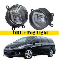 LED Daytime Running Lights Aluminum Cover Fog Lamp Fit For Mitsubishi Grandis