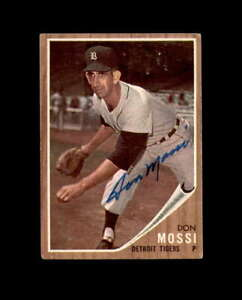 Don Mossi Hand Signed 1962 Topps Detroit Tigers Autograph