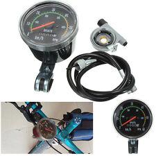 Waterproof Analog Speedometer Odometer Mechanical Clock Bicycle Cycle Fahrrad·