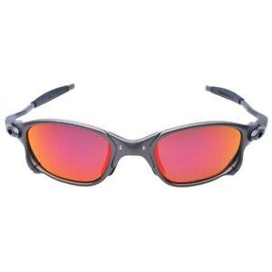 X Metal Juliet Cyclops Sunglasses Glass Titanium Goggles  UV 400 Ruby Polarized