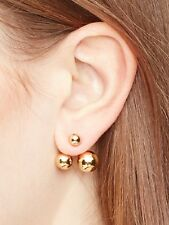 KATE SPADE 12K Gold Plated Dainty Sparklers Double Bauble Ear Jackets WBRUC340