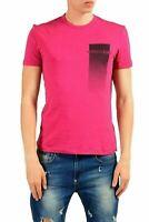 Versace Jeans Men's Raspberry Short Sleeve Crewneck T-Shirt US 2XS IT 44