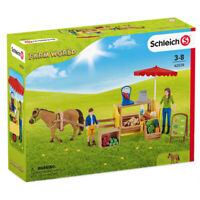 Schleich Mobile Farm Stand Playset with Figures Farm World Sunny Day Ages 3-8