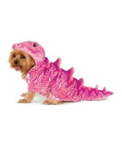 Rubies Pet Shop Dog Halloween Costume Pink Dinosaur SO CUTE Medium