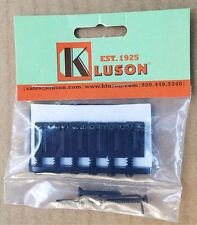 Genuine Kluson 6 String Fixed Hardtail Bridge for USA Fender Strat. BLACK KSB-B