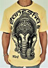 Ganesha T-Shirt Men's Yoga Ganesh 100% Cotton Tee Bali Sure Ships from USA