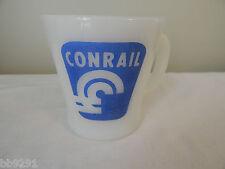 Vintage Conrail Get Aboard Idea Express Milk Glass Mug Fire King 51 Anchor HTF