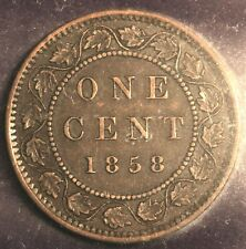 CANADA 1858  1  CENT - CERTIFIED