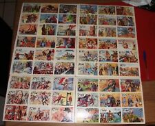 lot 6 Carte carton affiche scolaire Histoire de France frise chronologique ecole