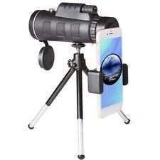 High Power 40X60 HD Monocular Telescope Outdoor Handheld +Phone Clip Tripod Kit