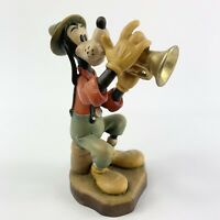 """ANRI Disney Goofy With Trumpet Signed By Artist Excellent Condition 4"""" Vintage"""