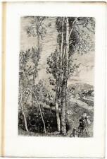 """Auguste LEPERE """"La Petite Mare"""" 1908 Eau-forte originale Gazette des Beaux-arts"""