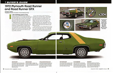 1972 PLYMOUTH ROAD RUNNER & GTX ~ GREAT 6-PAGE BUYERS GUIDE ARTICLE / AD