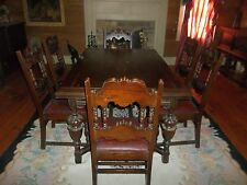 Free Shipping Elizabethian Dining Room Set Suite Suit Jacobean Color No Reserve