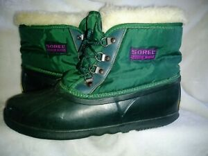 SOREL Kaufman Canada Wos Duck Boots Hand Crafted Natural Rubber VINTAGE Winter