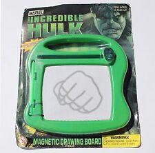 The Incredible Hulk Magnetic Drawing Board - Glow in Dark Pen - Sealed - HTF