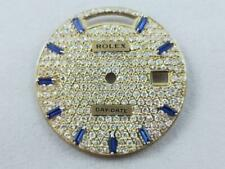 Custom Set Diamond Dial and 10 Blue for Rolex Date Day Men's 18038 18238 Watch