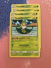 7/236 Sewaddle / Pokemon Card Game / TCG / SM-11 / Unified Minds / PLAYSET
