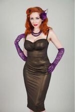 NWT Medium Bettie Page By Tatyana Pinup Cappuccino Dress