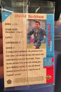 David Beckham Upper Deck 1997 England Rookie - #18 - Sealed Pack Packet PSA BGS