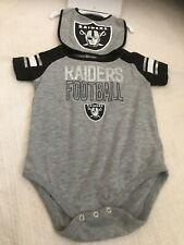 NWT NFL Oakland Raiders Infant 3-piece Set with  Bodysuit,Bib & Booties  24 mth