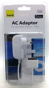 Genuine Logic 3 Fast AC Adapter For Apple iPhone & iPod Electronics White New