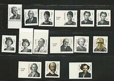 2000-2009 #3420/3436 Distinguished Americans Series15 Stamps with 3432 MNH