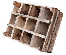 1x geflammtes Flaschenregal aus Holz, Weinregal-Obstkiste-Holzkiste-Apfelkiste