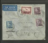 BELGIUM 1940 TO ARGENTINA AIR COVER, ANVERS CANCEL, VERY NICE