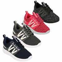 Girls Boys Trainers Kids Unisex Lace Up Pumps Mesh Running Gym Sports Shoes New