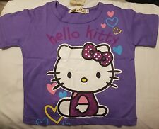 Baby Girls  purple  T Shirt Age 12 -18  months  hello kitty