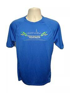 TCS New York City Marathon Training Series 18M Men Small Blue Jersey