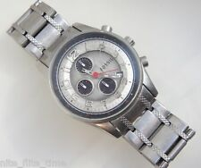 Fossil JR9939 Men's Stainless Steel Chronograph Watch Silver Analog Dial