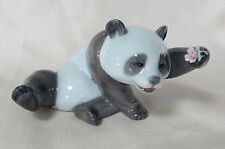 New Lladro A Jolly Panda Brand New In Box #8359 Adorable Cute Bear Flower Save$