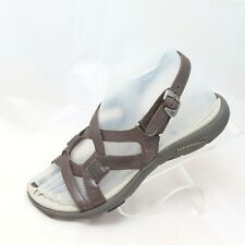 Merrell Bracken Women's Size 6 Brown Leather Strappy Slingback Open Toe Sandals