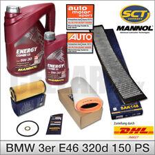 BMW 3er E46 320d 150PS 110KW Inspektionspaket mit 6L 5W-30 MANNOL Energy Combi