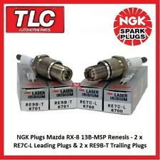 Genuine NGK Spark Plugs Mazda RX8 RX-8 RX 8 Set RE7C-L x 2 RE9B-T x 2 13B