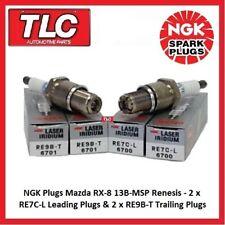 Genuine NGK Spark Plugs Mazda RX8 RX-8 RX 8 Set RE7C-L x 2 RE9B-T x 2 13B