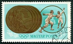 HUNGARY 1965 3fo SG2055 used NG Olympic Games Tokyo Hungarian Winners ##W54