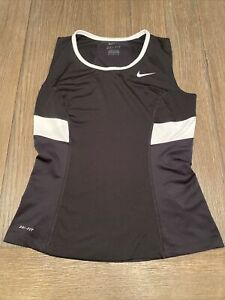 Nike Dri- Fit Size Medium Athletic Shirt Women's Black with White Trim