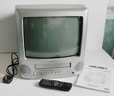 More details for bush btv18 sil/va tv & vhs combi silver *working* + remote vintage retro gaming