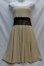Cocktail Dress Strapless Beige and Black Size 11 / 12 Junior Dressy Occasions
