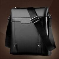 EG_ Men Faux Leather Business Messenger Bag Crossbody Satchel Shoulder Pack Sple