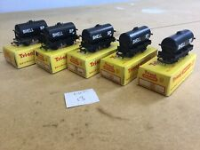Triang TT Excellent Lot 13 X5 T.75 Shell Oil Tankers