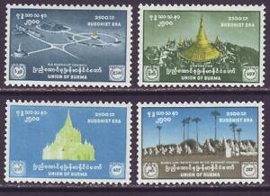 Burma 1956 SC 159-162 MH Set Buddhist 2500th Era