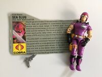 Vintage GI Joe ARAH 1987 SEA SLUG Action Figure Complete w File Card
