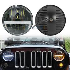 7 Inch LED Headlights White DRL Amber Turn Signal For Jeep Wrangler Jk TJ Hummer
