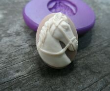 Beautiful HORSE cameo silicone push mold mould polymer clay resin food grade