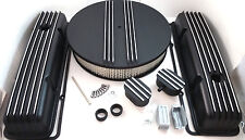 Nostalgic SB Chevy SBC Tall Black Finned Engine Dress Up Kit  283 327 350 59-86
